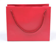 Red paper bag Stock Image