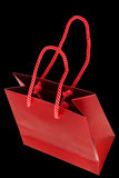 Red paper bag for gifts Stock Image