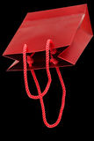 Red paper bag for gifts Royalty Free Stock Photo
