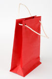 Red paper bag isolated Royalty Free Stock Photo