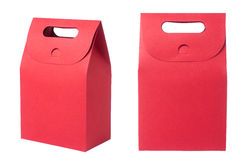 Red paper bag Stock Photos