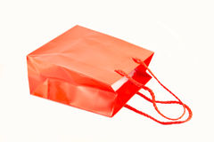 Red paper bag Royalty Free Stock Photos