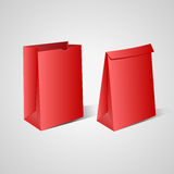 Red paper bags Royalty Free Stock Photography