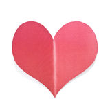 Red paper Bended heart Stock Images