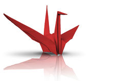 Red paper bird Royalty Free Stock Photos