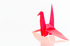 Red paper bird isolated. On white background Royalty Free Stock Image