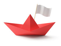 Red Paper boat Stock Photos
