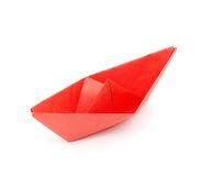 Red paper boat Royalty Free Stock Photo