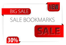 Red paper bookmarks Stock Image