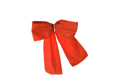 Red paper bow Stock Photography