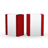 Red paper box with white wrap packaging,clipping path included Royalty Free Stock Photography