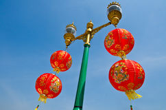 Red Paper Chinese Lantern Royalty Free Stock Photos