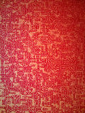 Red paper with chinese letter. Closeup texture of red paper with chinese letter Stock Photography