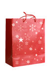 Red Paper Christmas Bag Stock Photography