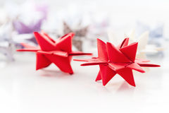 Red Paper Christmas stars Royalty Free Stock Images