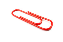 Red paper clip. Stock Images