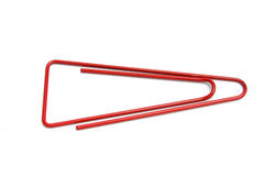 Red paper clip Royalty Free Stock Images