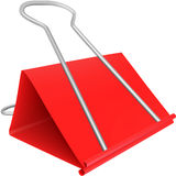 Red paper clip Stock Photography