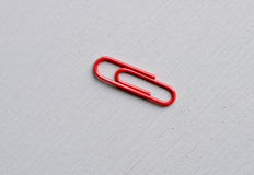 Red paper clip Stock Image