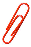 Red Paper Clip Royalty Free Stock Photography