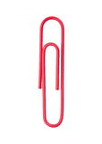 Red paper clip Royalty Free Stock Photos