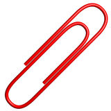 Red Paper Clip Paperclip Stock Photography