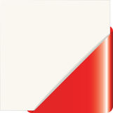 Red paper corner. Vector illustration of the red paper corner Royalty Free Stock Photos