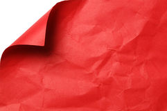 Red paper with curled corner Royalty Free Stock Image