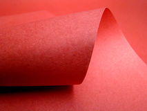 Red paper curve Stock Image