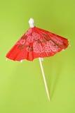 Red paper drink umbrella Stock Photo