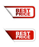 Red  paper element sticker best price in two variant Royalty Free Stock Photos