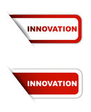 Red  paper element sticker innovation in two variant Royalty Free Stock Image