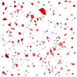 Red paper in flight. Isolated on a white background Stock Photography