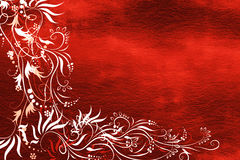 Red paper with floral Royalty Free Stock Image