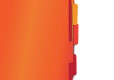 Red paper folder files. Red set of paper folder files Stock Images