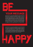 Red Paper Folding text layout. Stock Photography