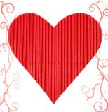 Red paper heart Stock Photo
