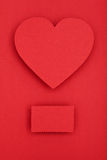 Red paper heart Stock Photography