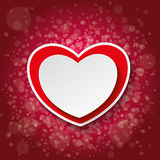 Red Paper Heart Bubbles Dark Red Background Stock Images