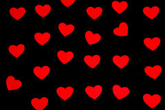 Red paper heart. S on the dark background Stock Photography