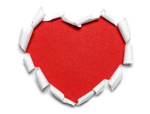 Red paper heart Stock Images