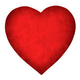 Red paper heart isolated on white background Royalty Free Stock Photo
