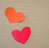 Red paper in heart shape Royalty Free Stock Image