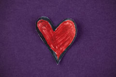 Red paper heart Stock Photos