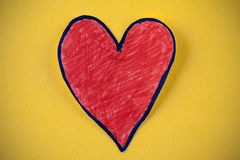 Red paper heart Royalty Free Stock Photos