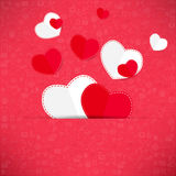 Red paper heart Valentines day card Stock Images