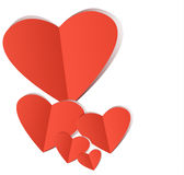 Red paper heart Valentins day Royalty Free Stock Image
