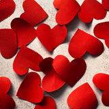 Red paper hearts Stock Photo