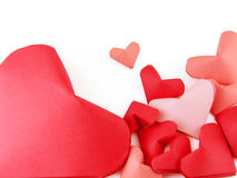 Red paper hearts Stock Photography