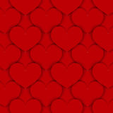 Red Paper Hearts Background. Dark Red Background Made of Paper Like Hearts. Can be Used as an Template, Book Cover in Web Design. Vector EPS 10 Stock Image